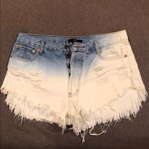 Forever 21 ombré high-rise jean shorts Size L